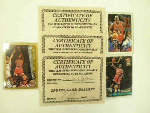2019: Michael Jordan signed cards