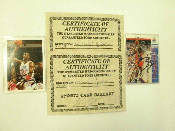 2020: Michael Jordan signed cards