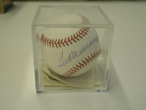 2023: Ted Williams signed baseball