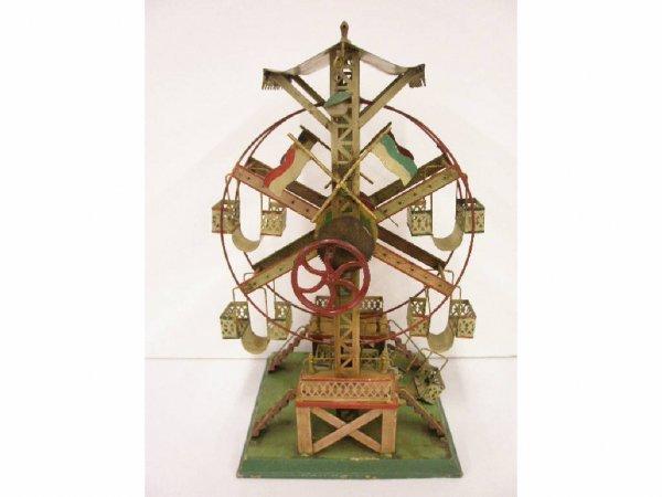2190: Antique steam driven tin Ferris Wheel