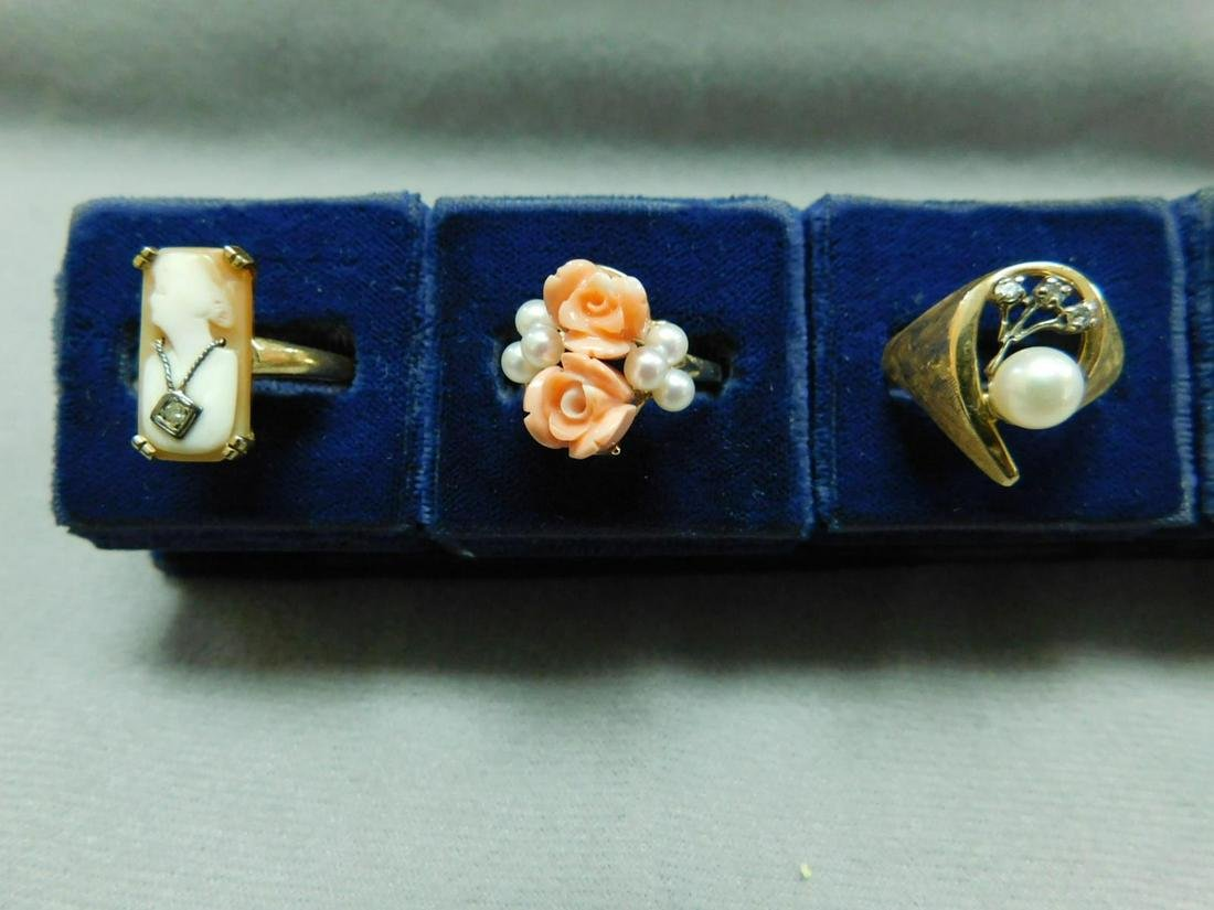 3 Gold Lady's Rings