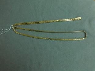 14k yg Chains Necklace Bracelet