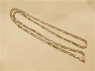 14k YG Figaro Necklace