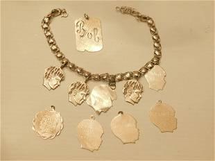 14k yg Charm Bracelet