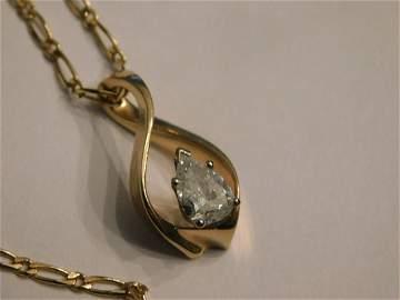 1.5 CT PS Solitaire Diamond Necklace