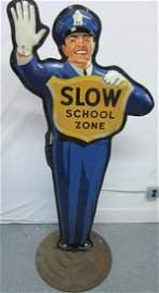 """Coca-Cola """"School Zone"""" Policeman Sign"""