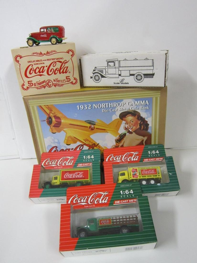 6 Assorted Coca Cola Die Cast Vehicles