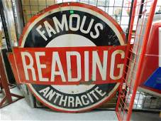 """""""Famous Reading Anthracite"""" Sign"""