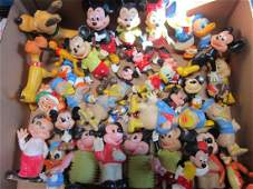 Large Lot Disney Rubber & Plastic Character Toys