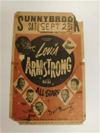 Louis Armstrong & the All Stars Signed Poster