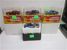 4 Hot Wheels Larger Scale Diecast Cars