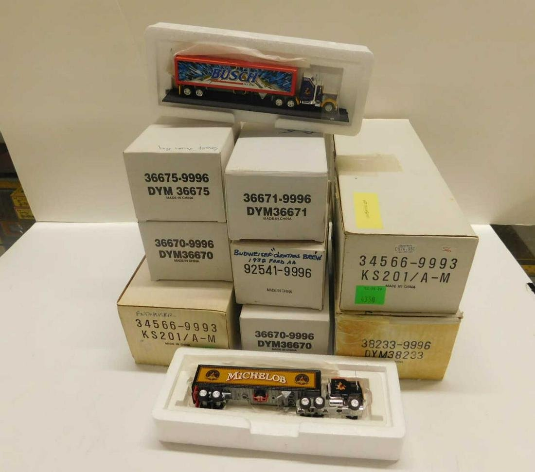 "8 Matchbox Collectible ""Budweiser"" Vehicles"