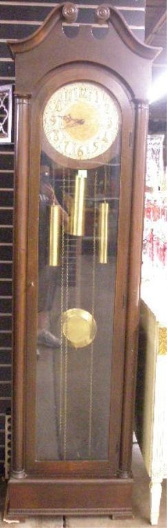 1001: Colonial Mfg. Co. Mahogany Tall clock