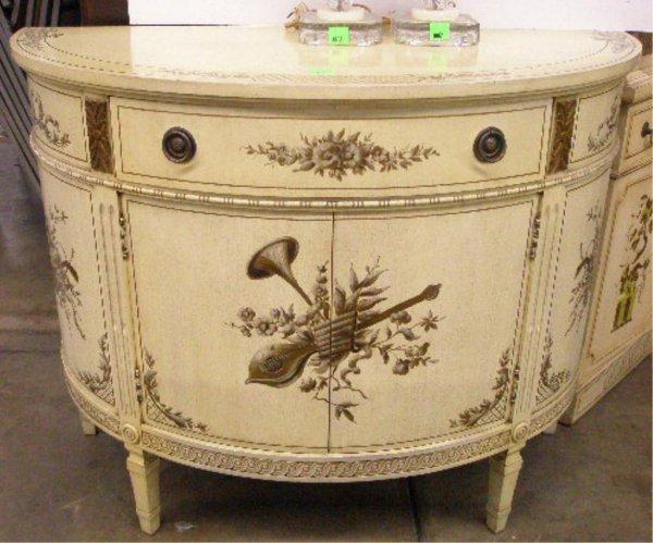 1003: Adam-style demilune console cabinet