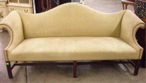 1011: Chippendale Style Mah Camelback Sofa