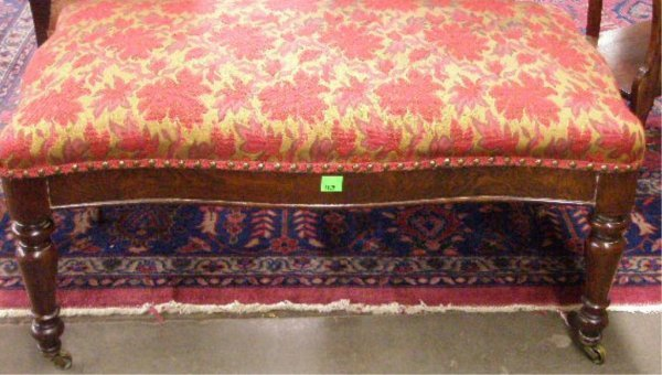 1129: Regency mahogany fireside bench