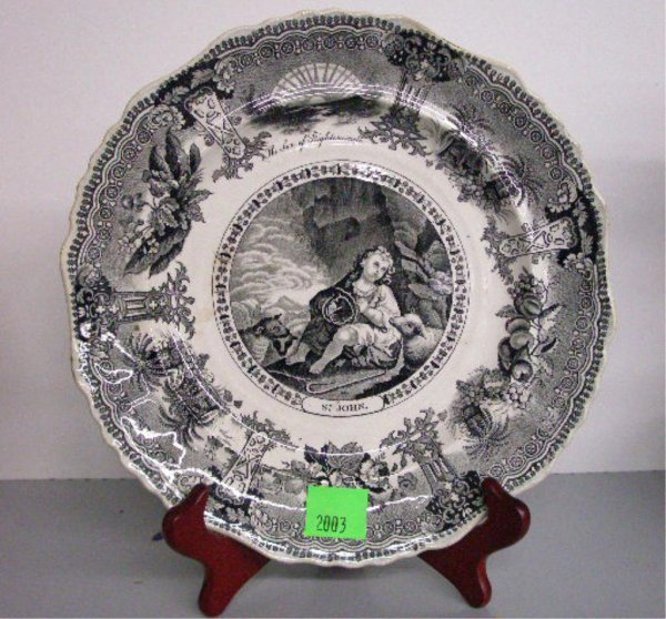 2003: 19th c. English Black & White Transfer Plate