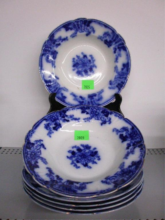 2005: English Flow Blue Soup Bowls