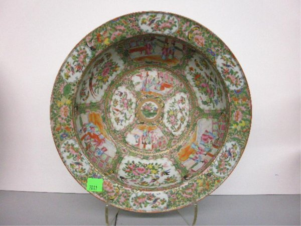 2011: 19th c. Rose Medallion Wash Bowl