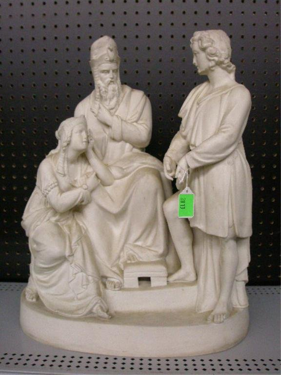 2013: 19th c. Parian Figural Group
