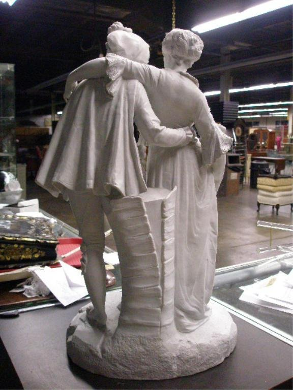 2014: 19th c. Parian Figural Group