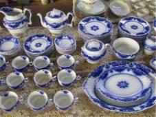 2117: Johnson Bros Flow Blue China Set