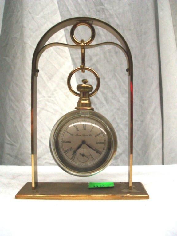 3014: Henri Lagin, Cie, Germany Paperweight Clock
