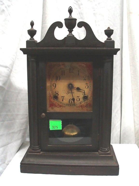 3015: Sessions Pillar & Scroll Style Scale Shelf Clock