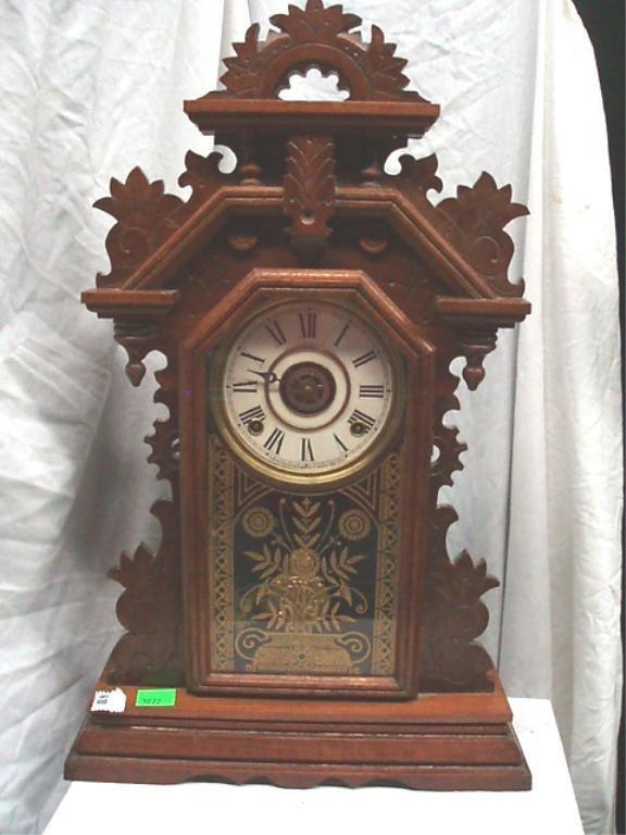 3022: E. Ingraham Co. Ginger Bread Kitchen Shelf Clock