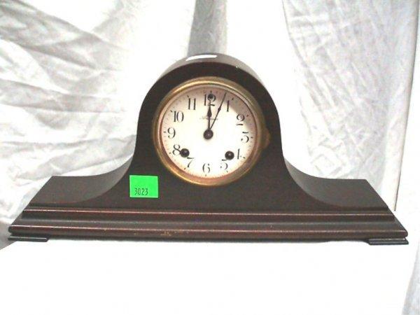 3023: Ansonia Tambour Half Size Mantel Clock