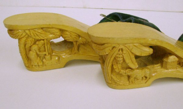 1105: Philippines' hand carved wooden platform shoes - 2
