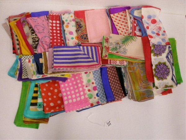 1109: Large lot of silk scarves
