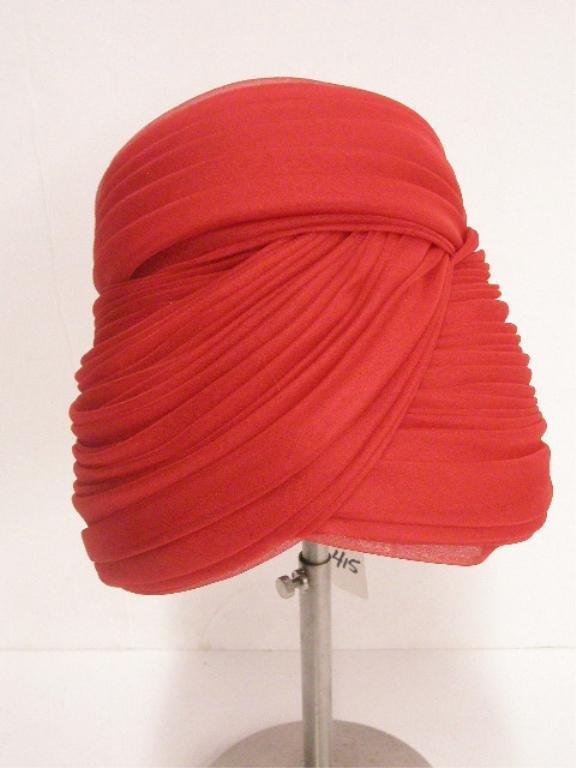 "1112: ""Lilly Dache, Paris, New York"" high crown hat"