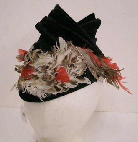 1115: Howard Hodge black velour hat