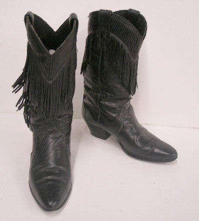 """1120: """"Laredo"""" black leather western boots"""
