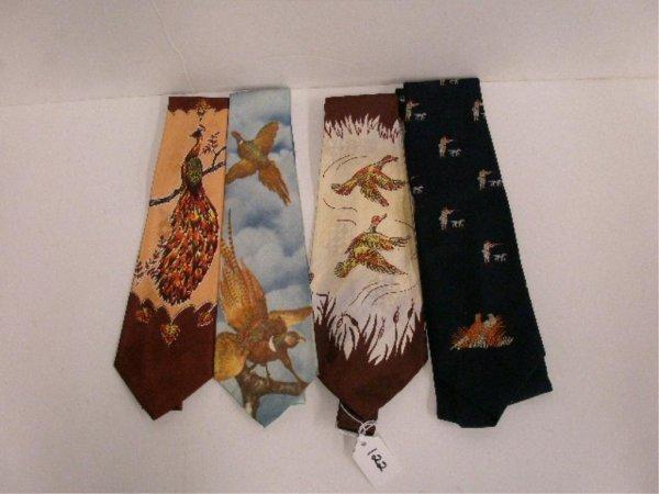 1122: Four vintage neck ties