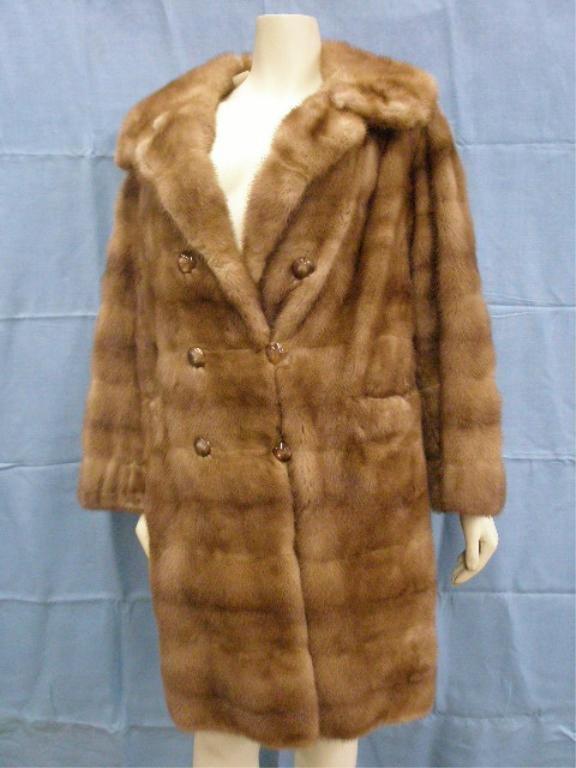 1133: Golden sable fur coat