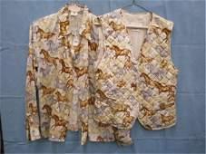 1173 Escada equestrian print silk blouse