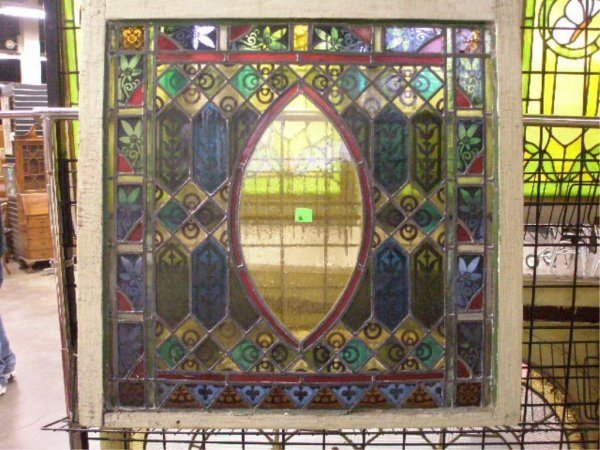 2003: Victorian painted & stained leaded Window