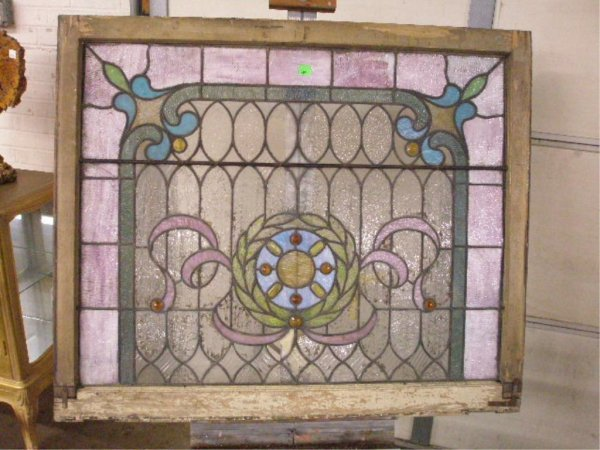 2005: Two leaded & stained glass window set