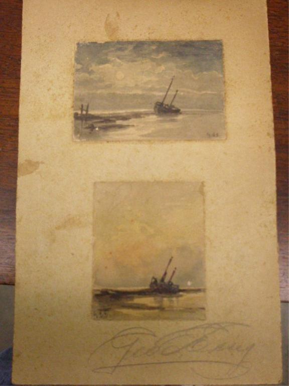 2024: G[eorge] E[merick] E [ssig] signed watercolor