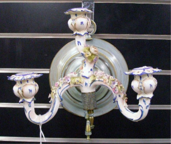 Continental Porcelain Wall Scone