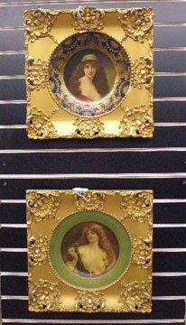 Vienna Art Tin Portrait Plates