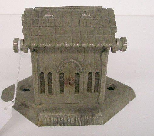 Nickle Plated Iron Counter Top Souvenir Match Box