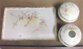 Bavarian  Limoges Porcelain Dresser Set