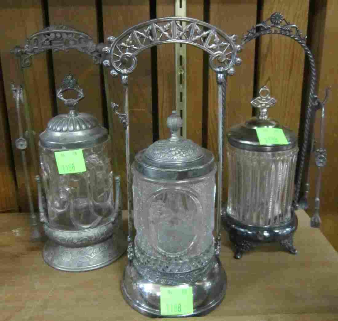Three Victorian Pickle Castors