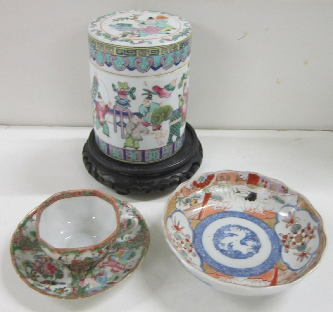 19th c Oriental Porcelain Group