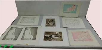 8 William Wendt Female Nude Lithographs