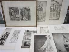 10 William Wendt Lithographs of Philadelphia