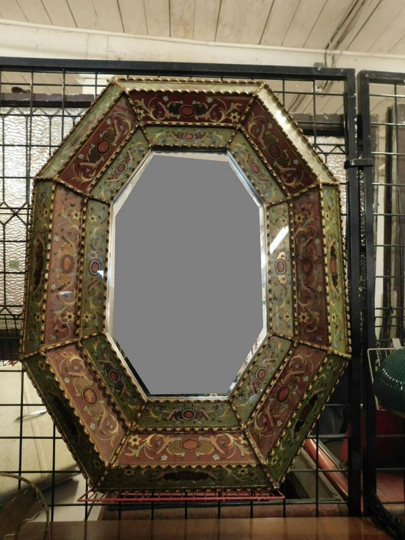 Venetian Reverse Painted Wall Mirror